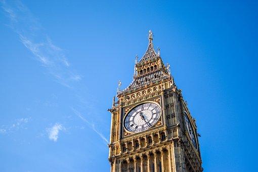 Big Ben, Clock Tower, Watch, London, Landmarks