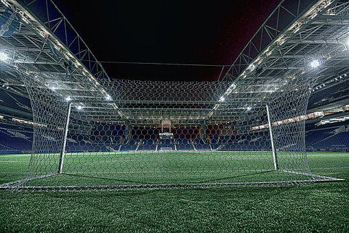 Football, Dragon's Stadium, Night