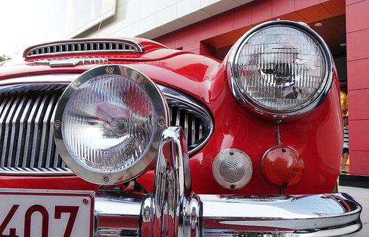 Jaguar, Lights, Chrome, Oldtimer