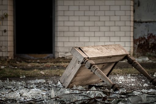 Abandoned Places, Pforphoto, Lost Place, Table, Broken