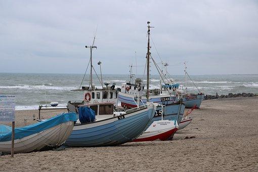 North Sea, Sea, Boot, Ship, Denmark, Water, Port