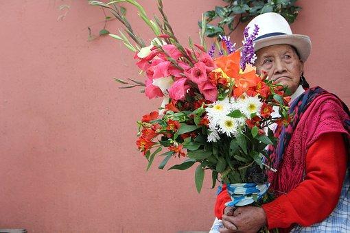 Selling Flowers, Flowers, Women, Indigenous