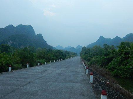 Mountains, Road, Asia, Viet Nam