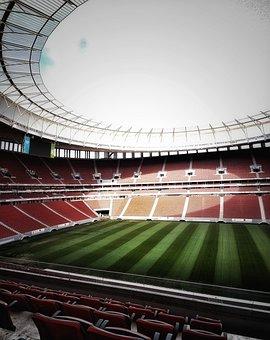 Brazil, Brasilia, Stadium, Garrincha, Crown, Football