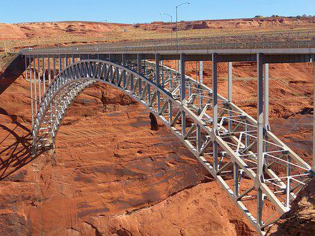 Glen Canyon, Usa, Bridge, Colorado River, Stahlbau