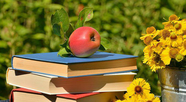Apple, Books, Garden, Read, Browse, Relax, Out