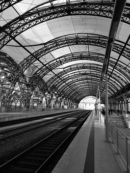Dresden, Central Station, Railway Station, Track