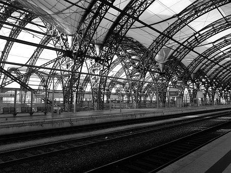 Dresden, Railway Station, Central Station, Steel