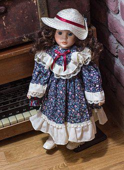 Doll, Kid, Colorful, Curly, Kids Toys, Funny, Interior