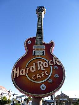 Las Vegas, Guitar, Hard Rock Cafe, Usa, America, Shield