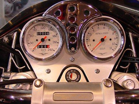 Moto Guzzi, Motorcycle, Hour S, Control Panel, Metal