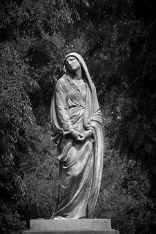 Statue, Tapeworm, Solo, Sad, Abandoned, Dark, Women