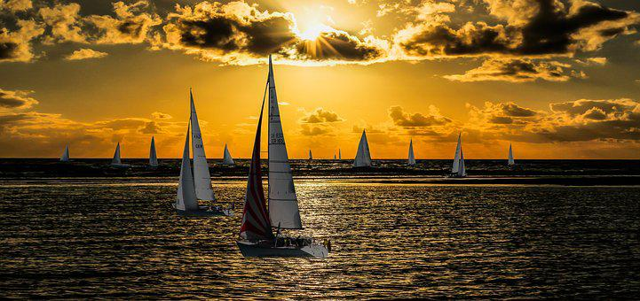 Nature, Landscape, Lake, Sea, Sail, Sport, Leisure, Sun