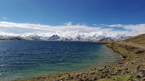 Nature, Glacier, Mountains, Reservoir, Water, View