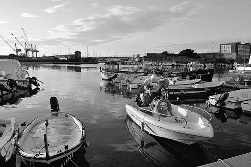 Leghorn, Tuscany, Italy, Sea, Water, Porto, Boat, Boats