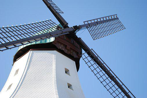 Windmill, Northern Germany, Baltic Sea, Coast