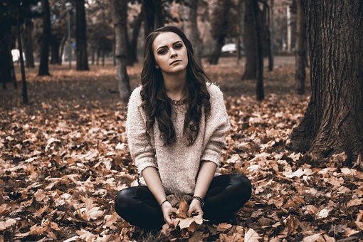 Sadness, Broken Heart, Sad Girl, Autumn In The Park