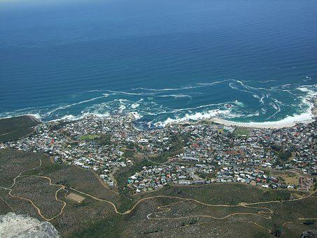 Cape Town, Table Mountain, Viewpoint, Coast