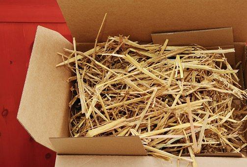 Straw, Packaging, Cardboard, Organic Packaging