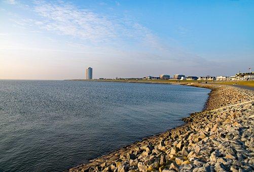 Büsum, Mecklenburg, Germany Beach, North Sea, Coast