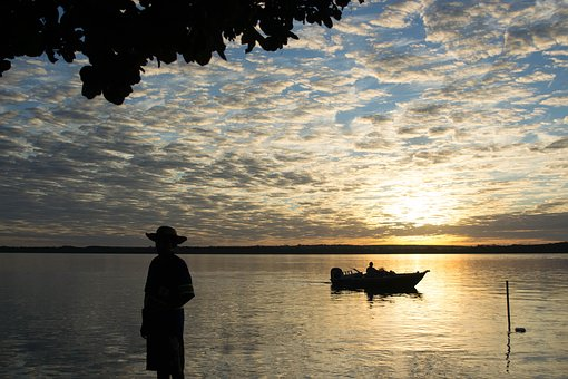 Fishing, Rio, Fisherman, Tranquility, Nature, Landscape