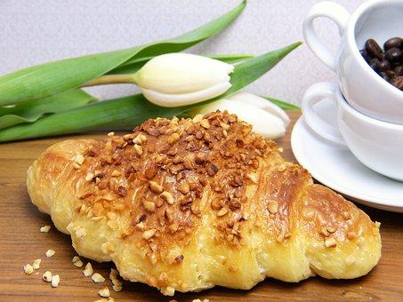 Croissant, Bake, Breakfast, Food, Puff Pastry, Frisch