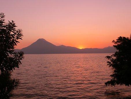 Guatemala, Sunset, Travel