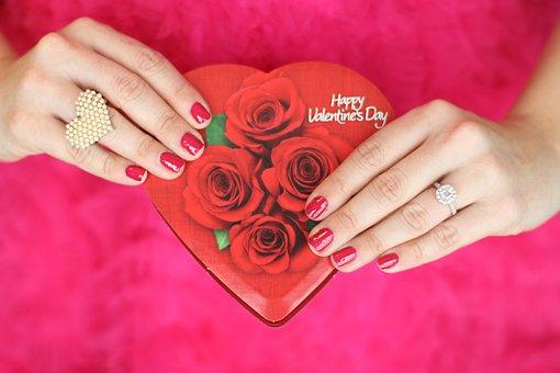 Valentines Day, Chocolates, Love, Heart, Red, Valentine