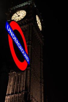 Underground, Big Ben, Subway, Metro, London, Icon