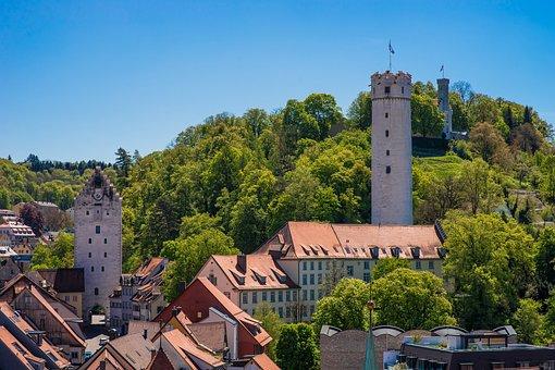 City, Ravensburg, Flour Sack, Downtown, Tower