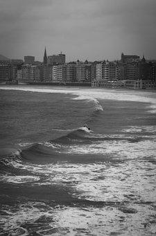 Donostia, San Sebastian, Beach, Sea, Bay, Shell