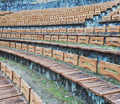 Seats, Theater, Wood, Wooden, Amphitheatre, Outdoor