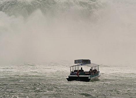 Rhine Falls, Schaffhausen, Water Wall, Spray, Agitated