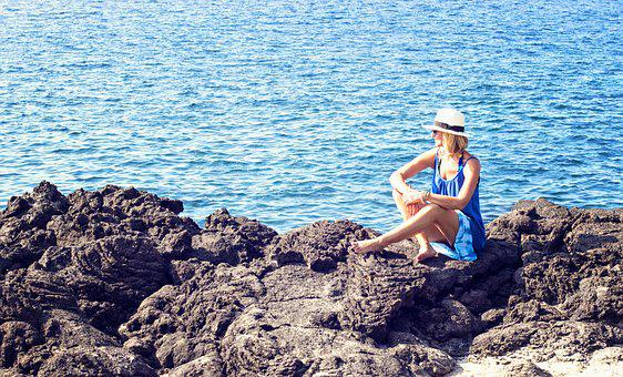 Hawaii, Coastline, Lava, Ocean, Coast, Sea, Tropical