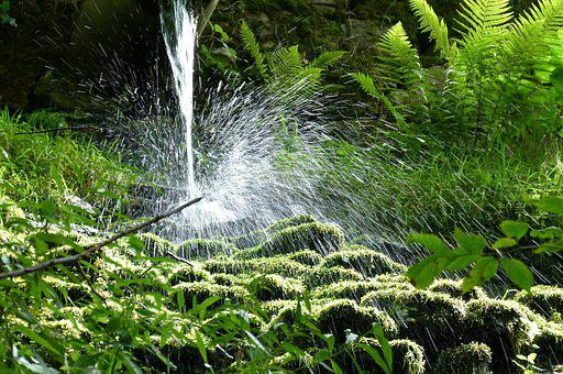 Waterfall, Water, Splash, Water Jet, Water Lens