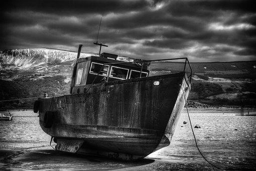 Boat, Ship, Wales, Welsh, Beach, Sea, Barmouth