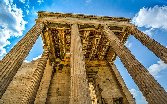 Acropolis, Parthenon, Ancient, Columns, Greece, Athens
