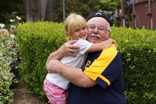 Grandfather, Granddaughter, Child, Grandchild, Happy
