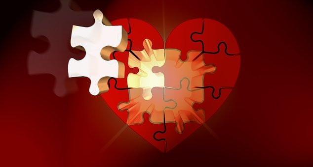 Puzzle, Heart, Light, Luck, Puzzles, Relationship