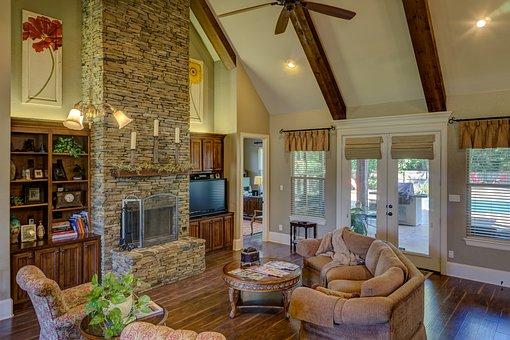 Living Room, Fireplace, Interior, Room