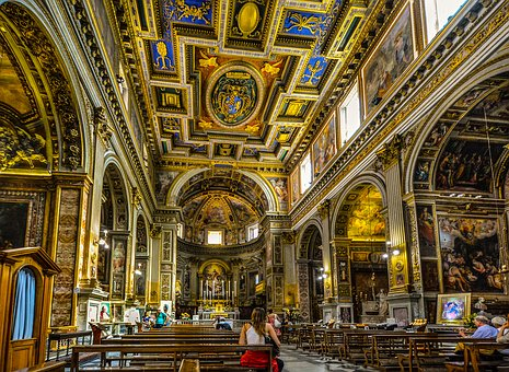 Cathedral, Interior, Italy, Italian, Church, Altar