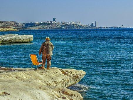 Fisherman, Fishing, Hobby, Leisure, Recreation