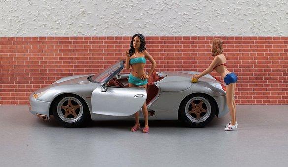 Model Car, Porsche, Boxster, Sporty, Silver