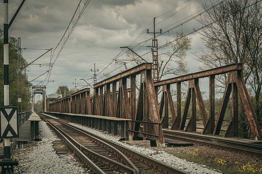 Tracks, Bridge, Traction, Rails, Railway