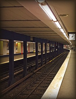 Metro, Ubahn, Train, Railway Station, Station, Hamburg