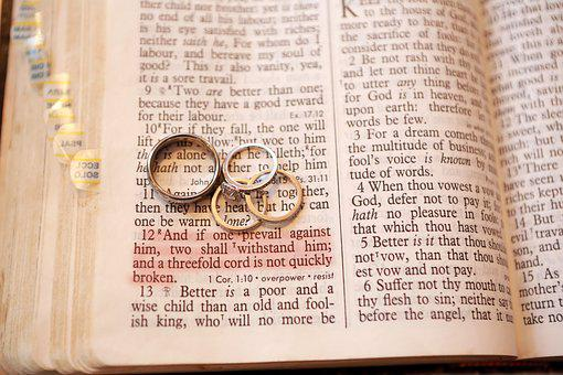 Wedding Rings, Bible, Verse, Engagement, Christianity