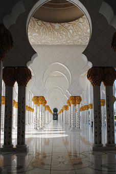 Mosque, Abu Dhabi, White Mosque, Emirates, Orient