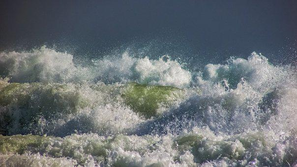 Waves, Spray, Foam, Liquid, Drops, Motion, Splash