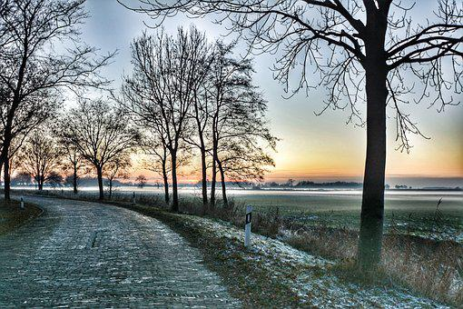 Wide, Winter, East Frisia