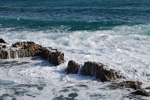 Waves, Rocky Coast, Erosion, Sea, Water, Liquid, Nature
